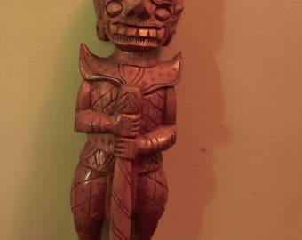 Hand Carved Wooden Burmese Warrior