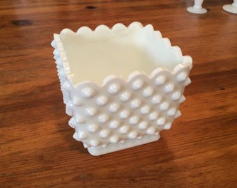 Fenton Milk Glass Planter