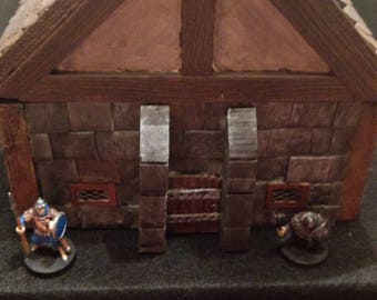 Dungeons and Dragons Fantasy Terrain, Wargaming two story stone house