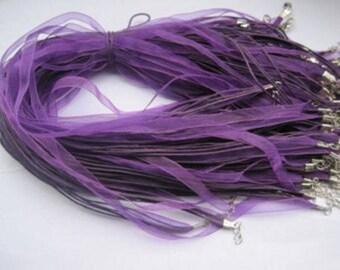 Purple Ribbon Cords