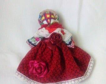 "Ukrainian folk textile doll mascot ""Motanka"""
