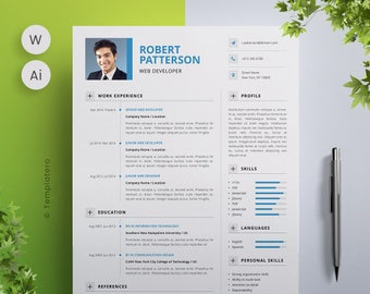 Resume Template + Free Cover Letter - Vol.1