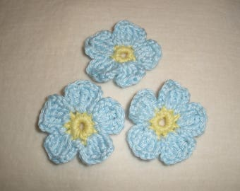 """Forget-me-not"" crochet flower"