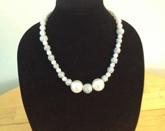Custom Pearl Silver Necklace #75