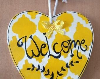 Handmade Door Hanging- Welcome Sign