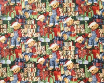 Bears n Blocks / Springs Creative Product Group / Christmas / 100% Cotton Fabric  / 3/4 yard only