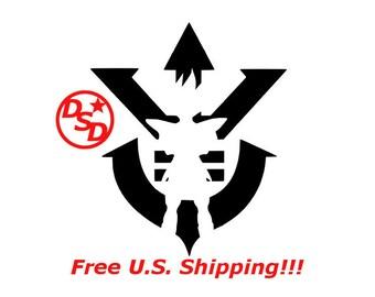 Dragon ball Royal Saiyan Vegeta Vinyl Decal