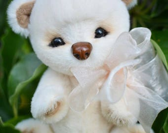 Bear Milka, fur handmade toy, a gift for the holiday.
