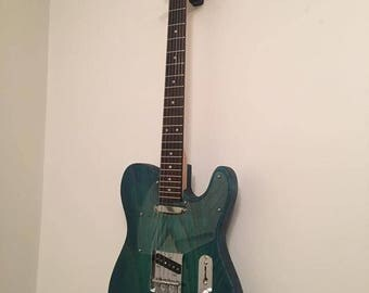 Green/Blue Burst Handcrafted Telecaster-style guitar
