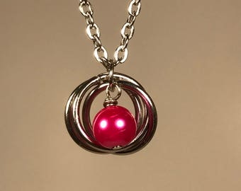 Saturn Necklace (Pink)