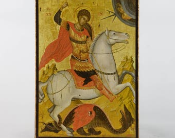 Christian Icon of Saint George, catholic icons and orthodox icons