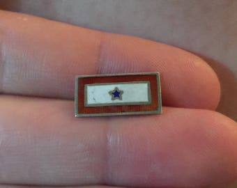 Vintage Blue Star Enamel Pin