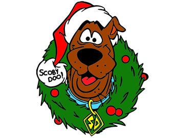 Scooby Doo Christmas - Cutting Files and ClipArt  Svg Png Eps Dxf Digital Graphic Design Instant Download Commercial Use