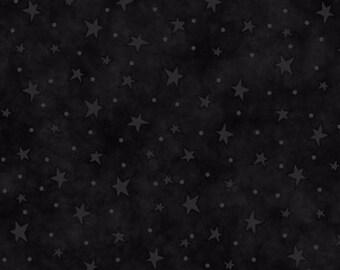 Starry Basics - Black Stars by Henry Glass 100% Cotton