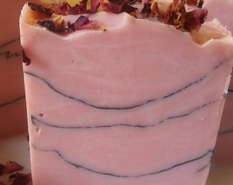 Rose Clay and Charcoal Homemade Soap, Handmade Soap, Natural Soap, Cold Process Soap