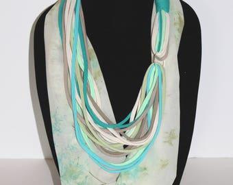 Tshirt Scarf - Infinity Scarf - Blue Infinity Scarf - Teal Infinity Scarf - Tshirt Infinity Scarf - Mom Gift - Wife Gift - Birthday Gift