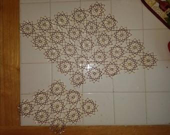 Handmade Japanese bead doily