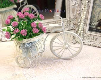 Beaded flowers,  French beaded flower, Seed bead flower, Beaded bouquet,  Keepsake bouquet, Fake flower arrangement, Clover bouquet