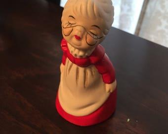 Vintage Mrs. Santa Claus bell