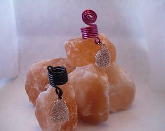 Pink rhinestone dread bead
