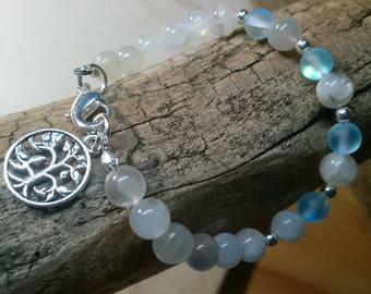 Moonstone and Aqua Bracelet