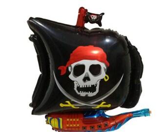 Black Pirate Ship Balloon, Pirate Balloon, Pirate Ship Balloon