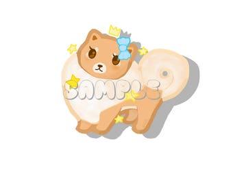 Pomeranian Glossy Sticker