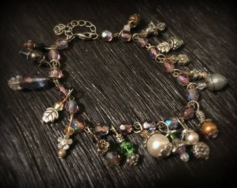 Enchanted Garden Glass Beaded Charm Bracelet