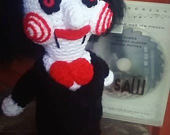 """Crochet Pattern for Jigsaw """"Billy"""" from the Saw movies (Pattern only)"""