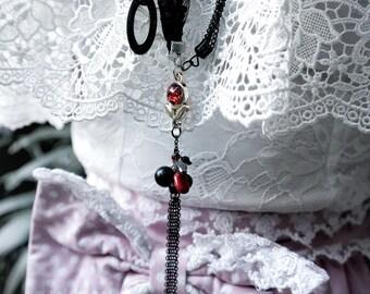 "Beautiful Gothic ""Deliria"" Lace Necklace"