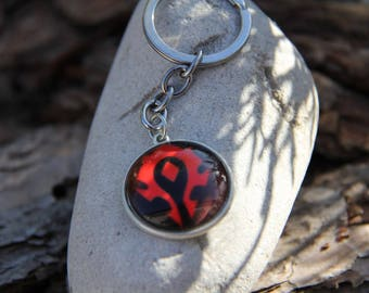 The Horde Emblem keychain from World of warcraft