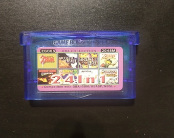 24 in 1 Nintendo Gameboy Advance gba Zelda link to the past donkey Kong country