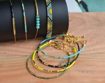 Bracelet beaded gold plated women Juma