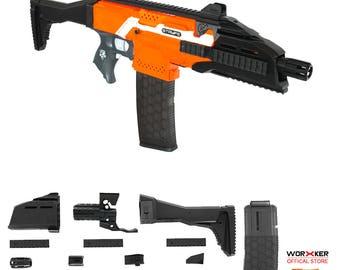 Worker MOD F10555 Scorpion EVO3 Imitation Kit 3D Printing Combo for Nerf STRYFE N505