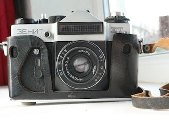 Zenit camera, Vintage collectible camera, Old Vintage Soviet Camera Zenit ET