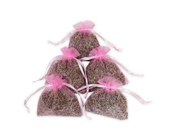 Lavender Sachets Bags,  12PCS Aromatic Fragrant Potpourris Wedding, Bridal And Baby Shower Favors Dried Floral Scented Sachets - LS001-5