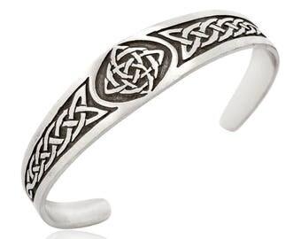 Dan's Jewelers Classic Celtic Knot Bracelet with Irish Pattern, Fine Pewter Jewelry