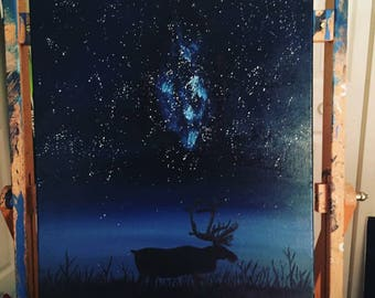 Caribou Under the Stars