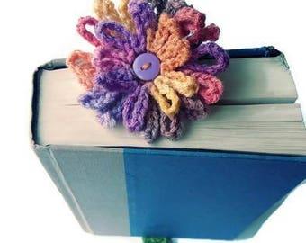 crochet flower bookmark, crochet bookmark, kids bookmark, crochet book mark, teacher gift, readers gift, book accessories, birthday gift