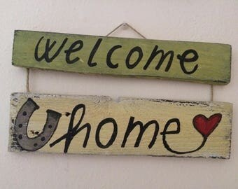 Wooden plaque Welcome Home