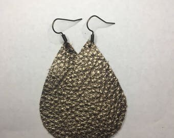 Cocoa leather teardrops