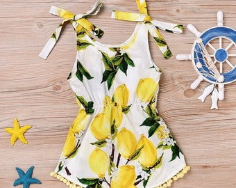 Baby/toddler Lemon print dress
