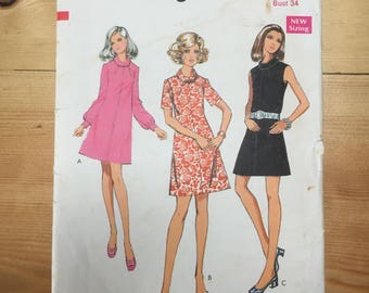 Vintage/Retro 1960s dress sewing pattern