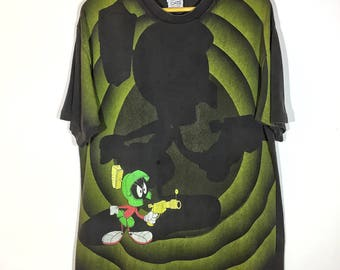 rare vintage Marvin the Martian full printed printed all over the shirts swagger design multicolor streetwear hypeebeast hypebae 90's fashio