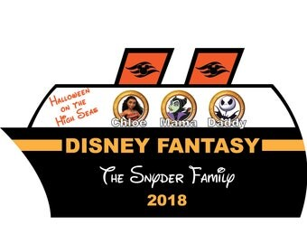 Disney Cruise Door Magnet Halloween Disney Cruise Line Customized Door Magnet
