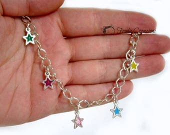 Star Bracelet - Resin - Hand Made - Kawaii - Crazy Colors - Made in Italy - Bracelet - Bracelets
