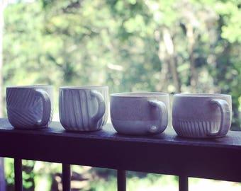 Rustic earthy coffee mug