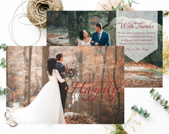 "Thank You Card | Wedding Thank You Card | ""Happily Ever After"" 