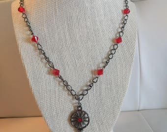 Red Key Necklace