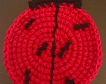 Handmade lady bug coasters